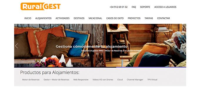 Nueva Web Ruralgest, portada